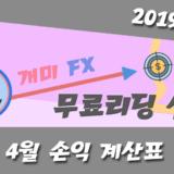 FX마진 '달러-엔' 무료리딩 매매일지 (19년 4월은 + 31 핍)
