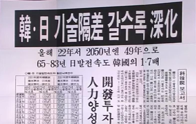 80년대-일본-한국-기술격차-신문-국력