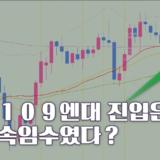 【FX리딩】 달러-엔 일봉차트, 양봉을 부정하는 꼬리캔들 출현!
