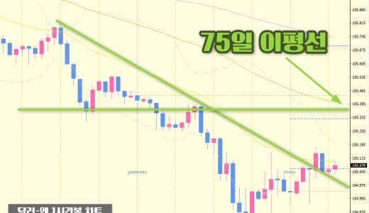 [FX리딩] 105엔 지지선이 무너진 「달러-엔」의 다음 타겟은?